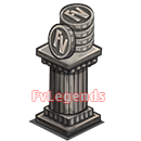 Double Coins Statue Icon