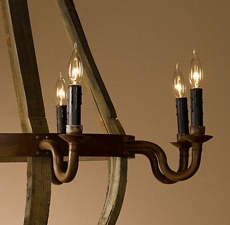 wine barrel chandelier from restoration hardware