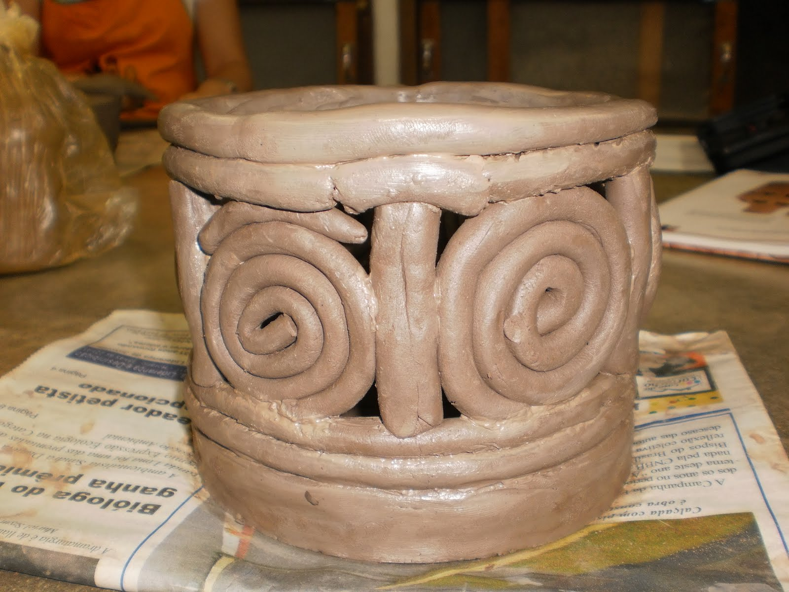 Buscando criar trabalhos de um aluno da casa da cultura for Materiales para ceramica artesanal