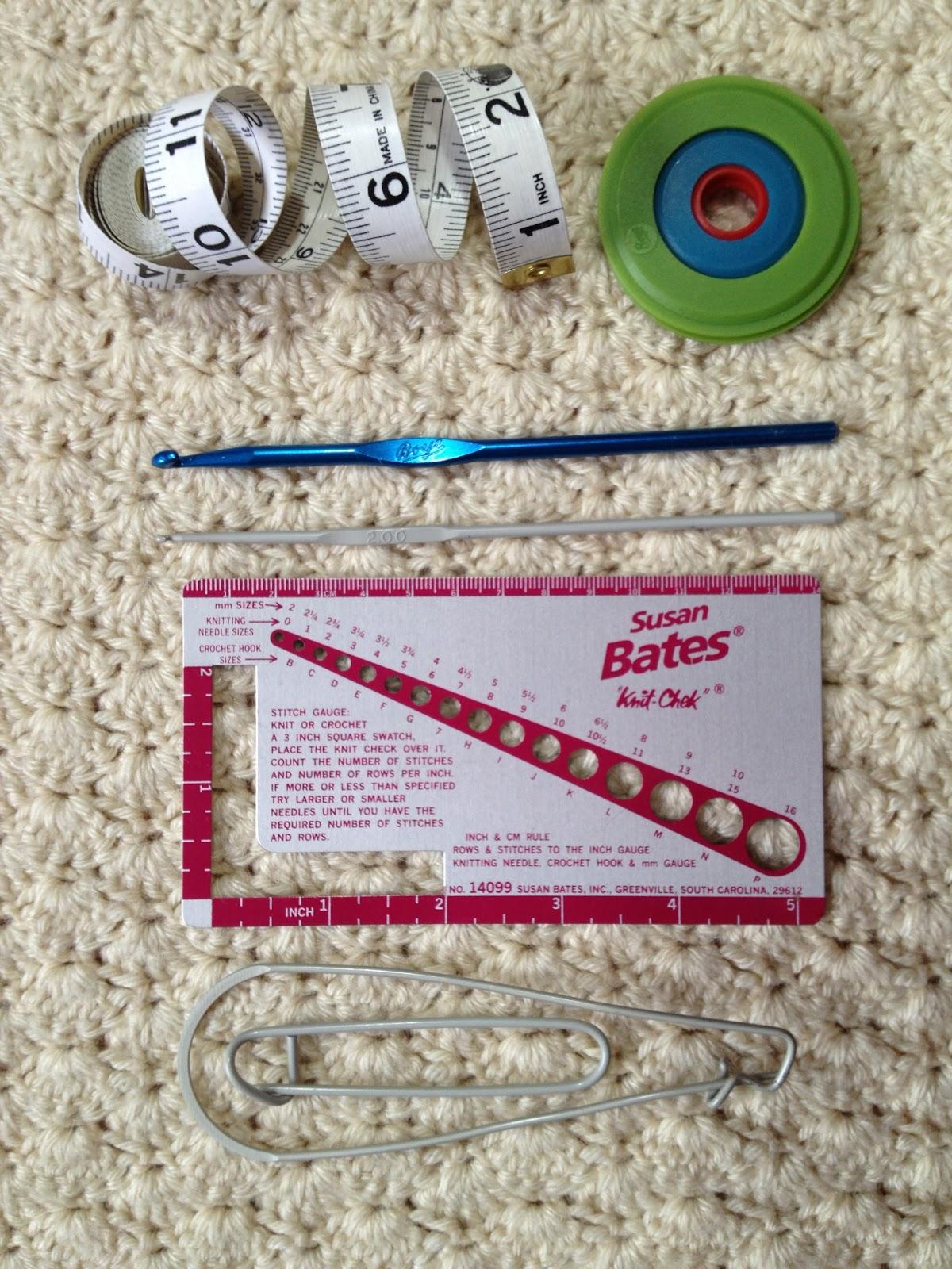 Crochet Stitch Gauge : ... TAPE, POM POM MAKER, CROCHET HOOKS, NEEDLE GAUGE, STITCH HOLDERS