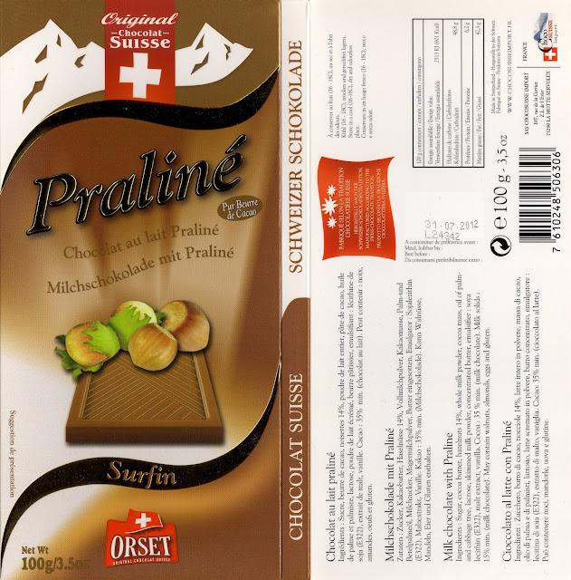 tablette de chocolat lait gourmand orset la route des alpes lait praliné