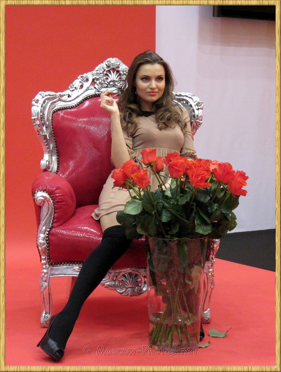 Model with Red Tulips at Photoforum 2011