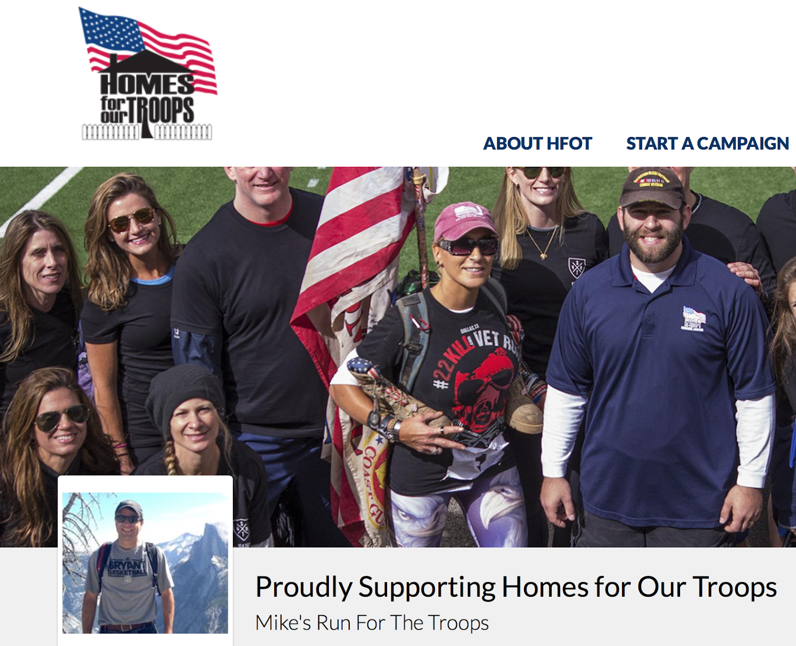 SUPPORT A GREAT CAUSE!  HOMES FOR OUR TROOPS
