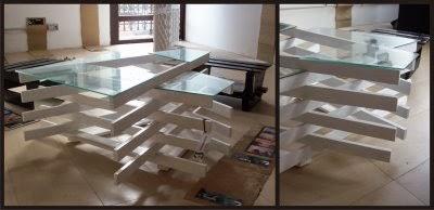 Mesa de dise o hecha con tablas de palets - Disenos con palets ...