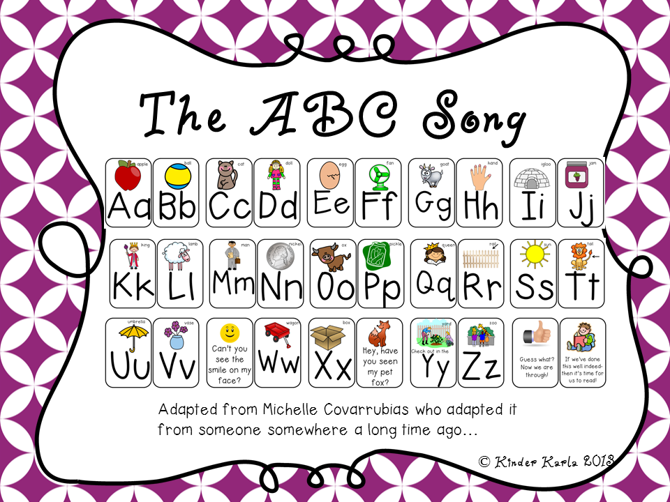 Karla's Kreations: An ABC song {FREEBIE}