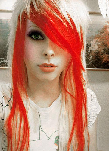 Emo Hair Color Ideas For Girls.b