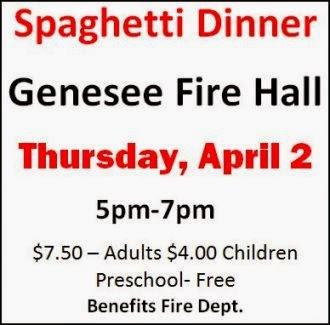 4-2 Genesee FD Spaghetti Dinner