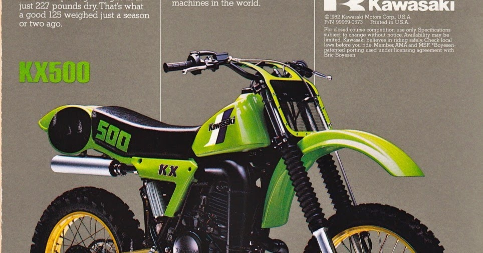Racing Caf U00e8  Vintage Brochures  Kawasaki Kx 500 1983  Usa