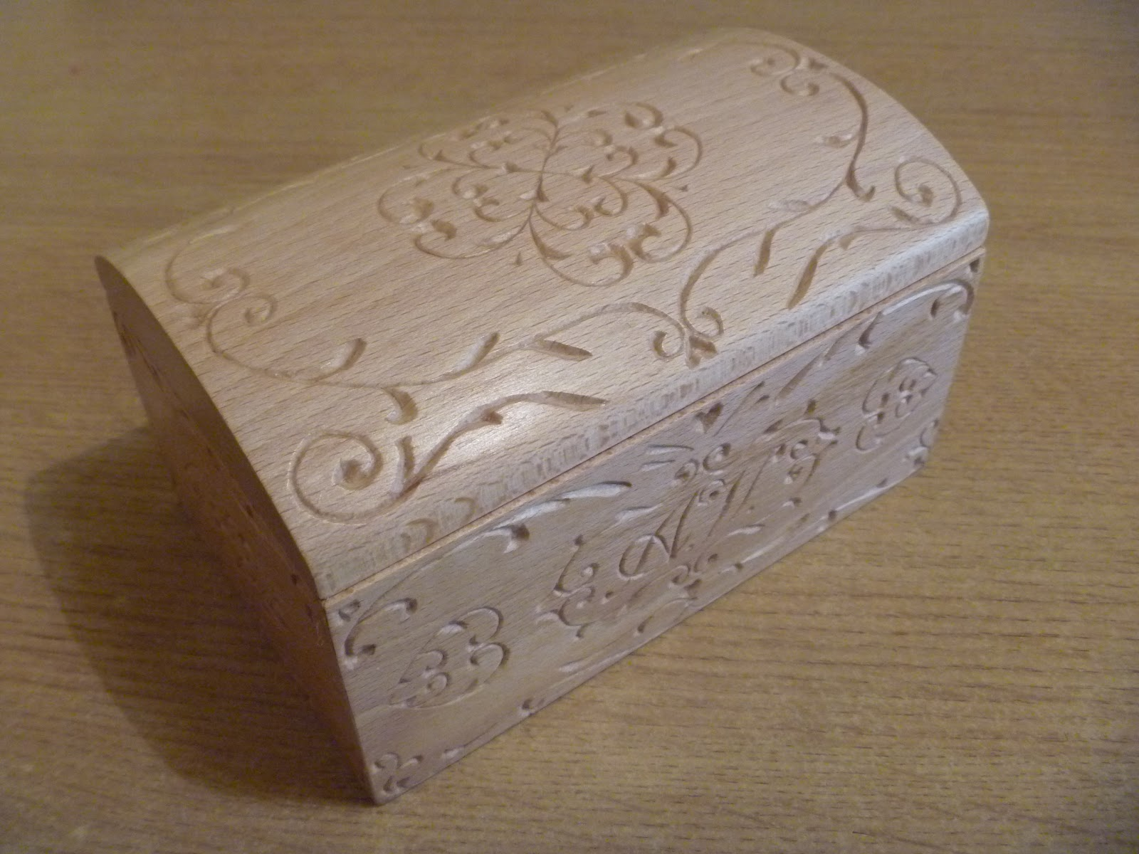 Favoloso Nel Legno - wood carving and more: Portagioie in faggio LJ15