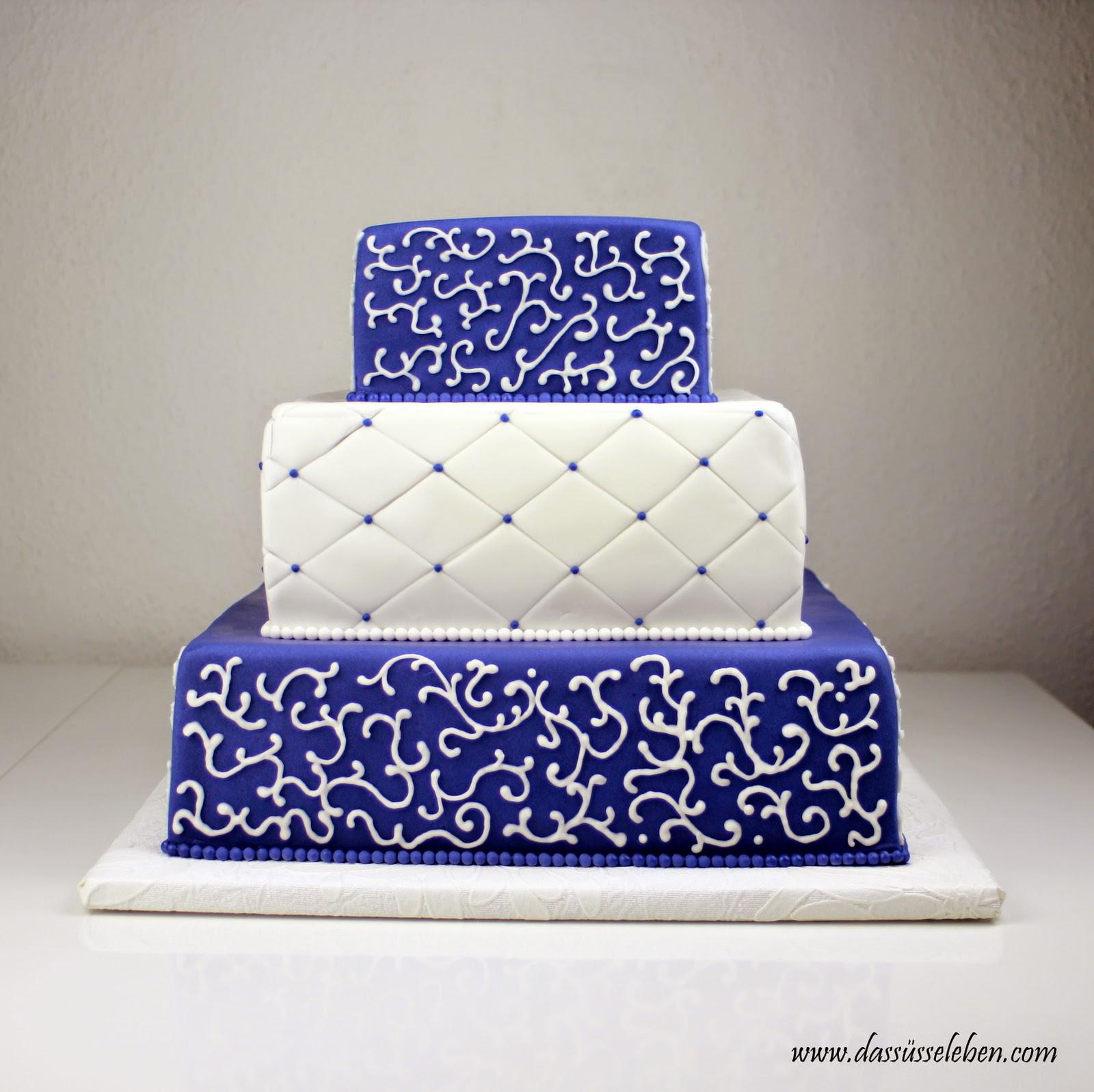 Rezept Marineblaue Hochzeitstorte  Das süße Leben