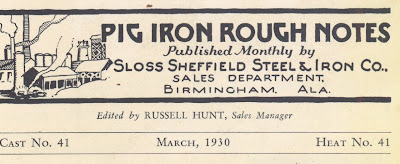 Pig Iron Rough Notes
