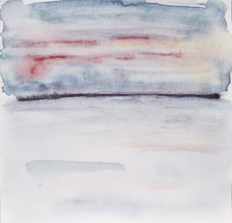 blue abstract watercolor seascape, landscape, rothko inspired compoisition