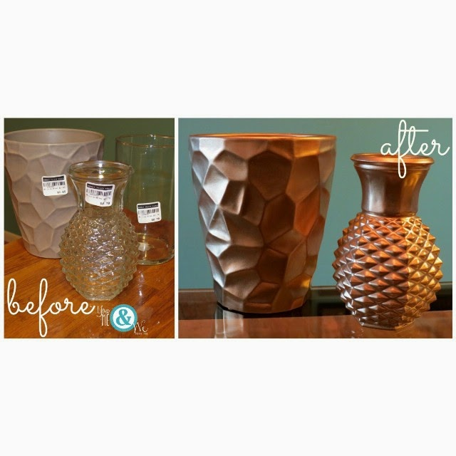 #thriftscorethursday Week 35 | Instagram user:helloyoumeandwe shows off this Plain to Gold Vases Before and After