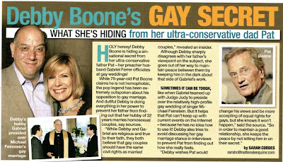"Debby ""You Light Up My Life"" Boone's Husband Performs Gay Marriages"