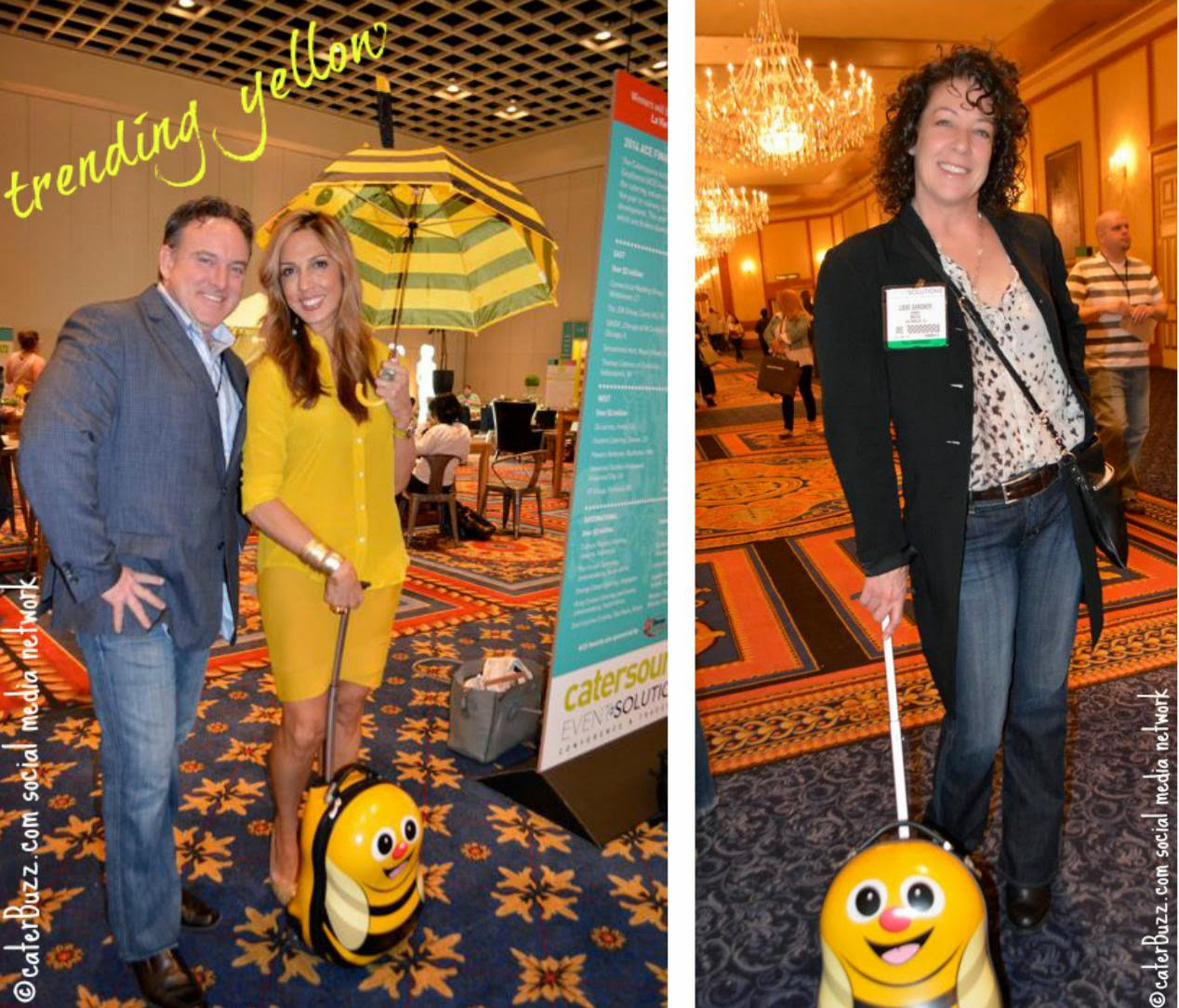 Jason capps with vicky crease; liese gardner ; photos © caterBuzz.com social media network -