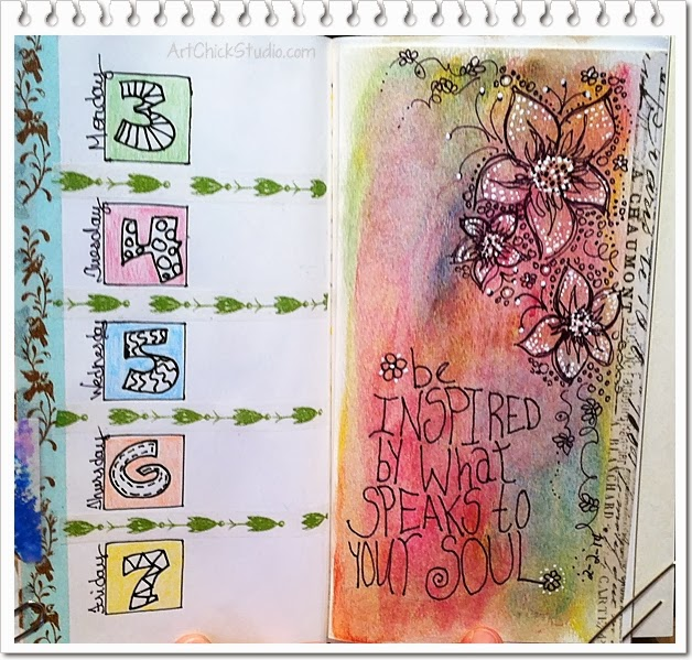Art Inspired by Stephanie Corfee Art Journal Page