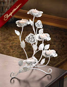 White Roses Candelabra Wedding Centerpieces Candle Holders