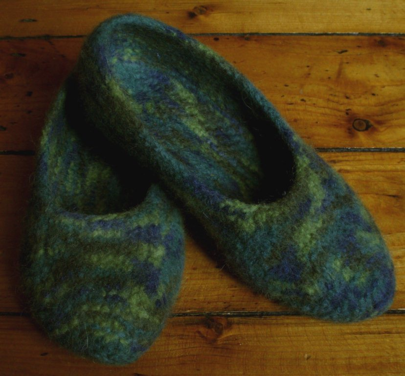 Knitting Now And Then Felt Slippers