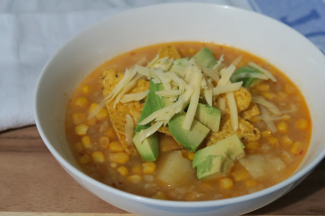 Corn, chile, and potato soup | salt sugar and i
