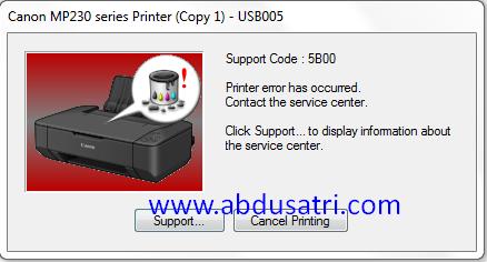 Cara mengatasi Printer tidak bisa menarik kertas, kertas miring