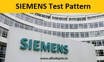 siemens test pattern written, online   freshers jobs