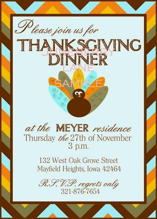 Easy Homemade Thanksgiving Feast Invitations