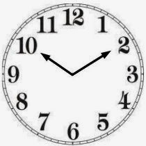 looking at the clock you see the time is ten minutes past ten so in spanish you should say