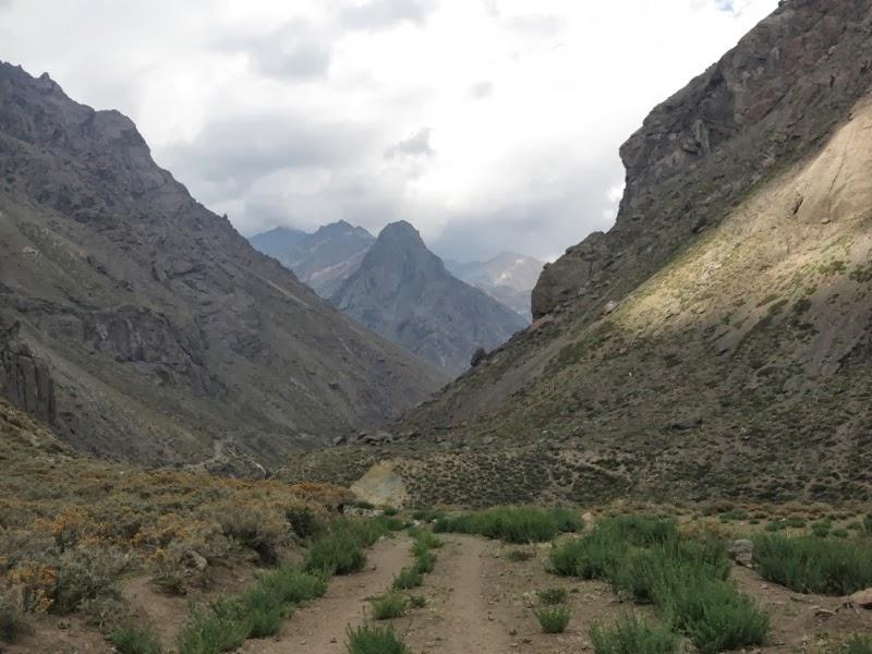 Es geht los - die ersten Meter in Richtung Tupungato