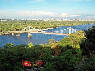 Днепр и Пешеходный мост
