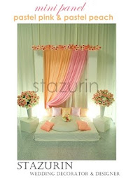 Pelamin Mini Eksklusif Pertunangan/Engagement/Pernikahan Pelamin LOVELY  PASTEL PINK & PEACH