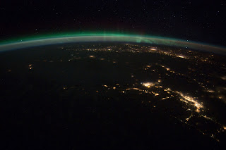 Aurora Borealis Over Vancouver and Seattle at Night