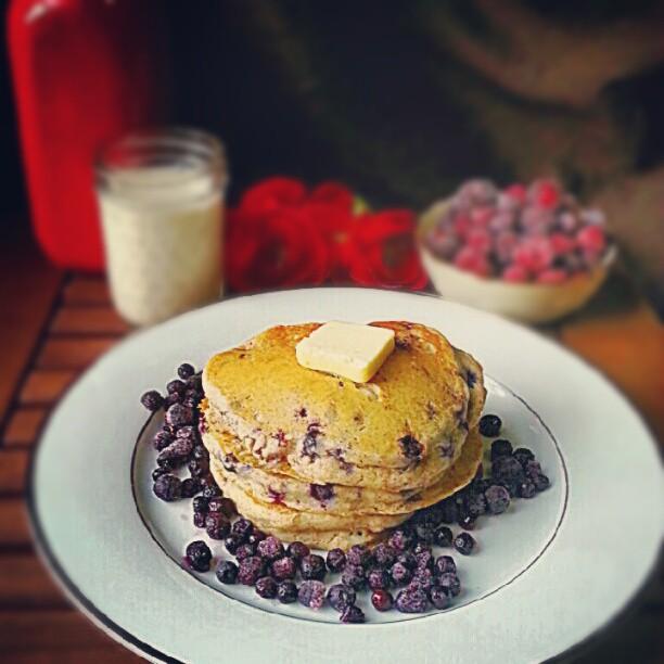 Glutenfree Blueberry-Flax Buttermilk Pancakes | Foodie in WV
