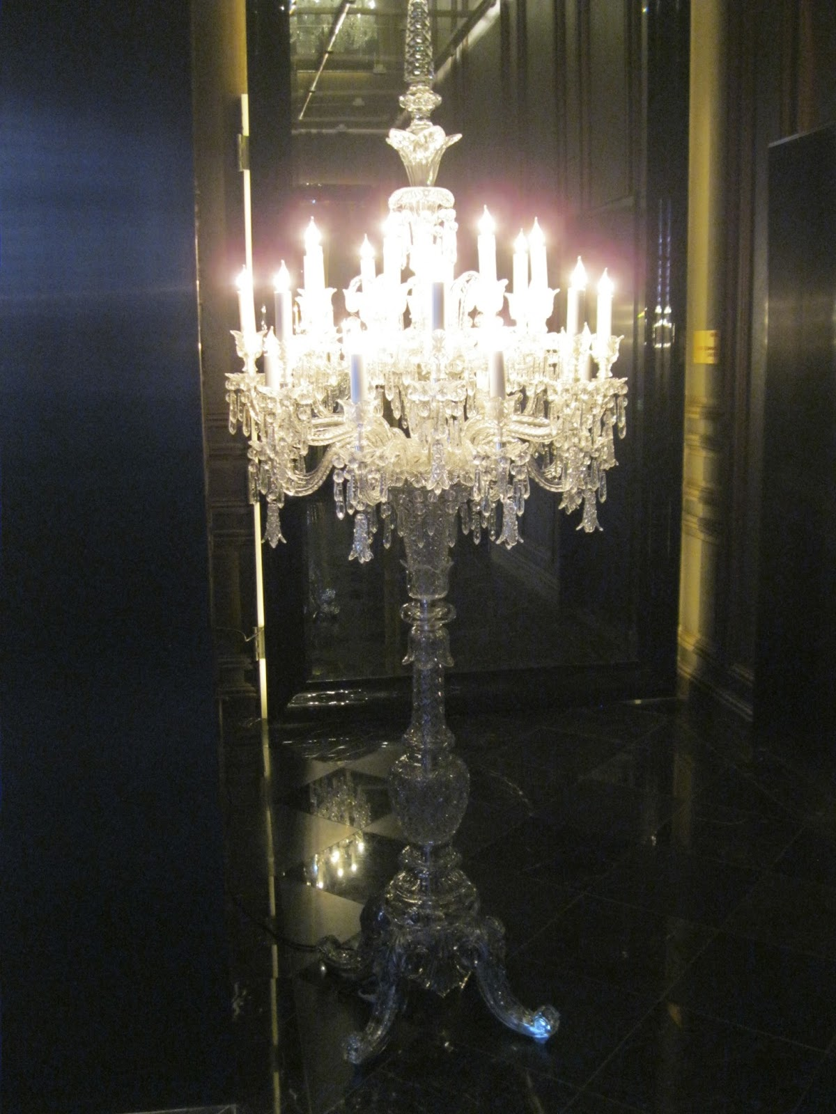 Pandoras box the baccarat hotel tiffany and mackenzie childsnyc the doorman guided us into the building into a small room which was all black with this lovely pedestal chandelier lighting up the small foyer arubaitofo Image collections