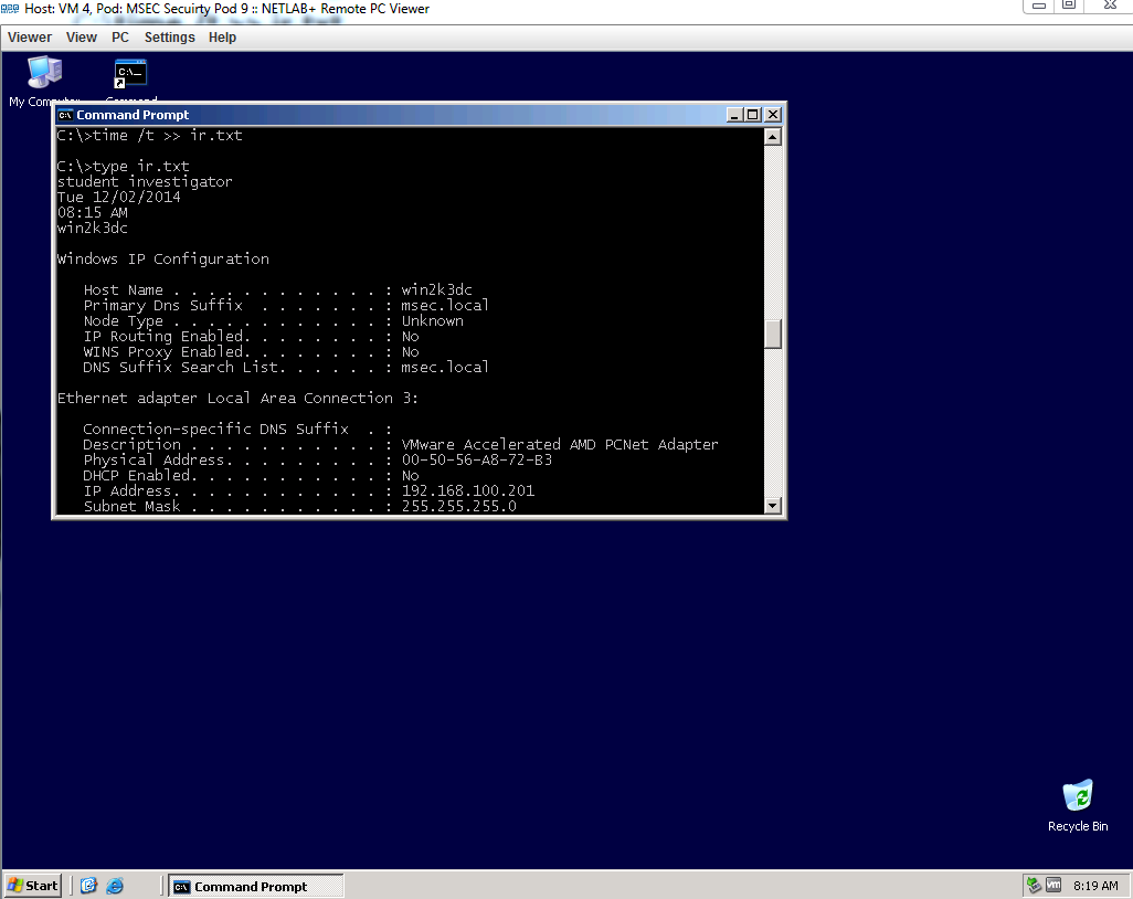 Windows command prompt nmap - What Is The Command To Get Important Information About A Windows System
