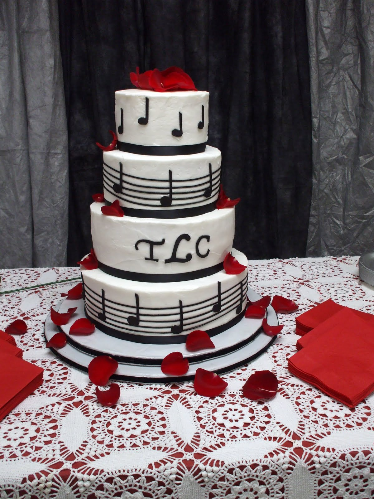 The Simple Cake Music Themed Wedding Cake