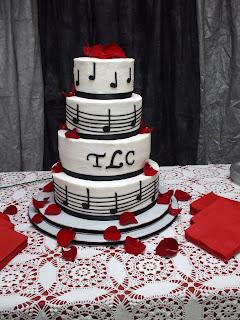 The Simple Cake Music Themed Wedding Cake