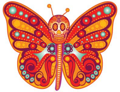 day of the dead butterfly