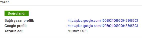 Google Arama Sonuçlarında Yazar Resmi ve Bilgisi