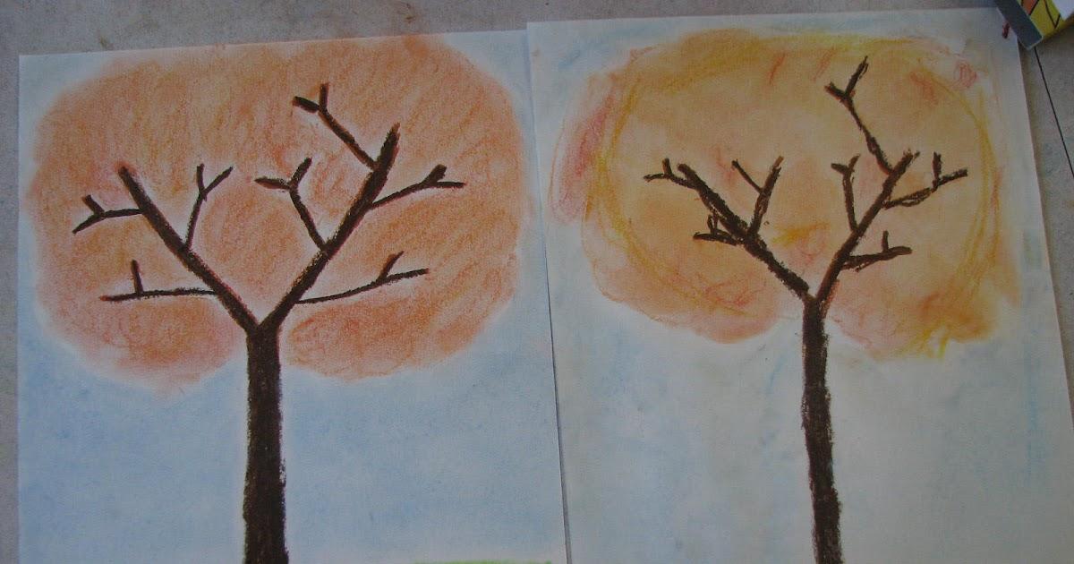 Les projets cr atifs de fleur de paix arbre d 39 automne - Dessiner un arbre d automne ...