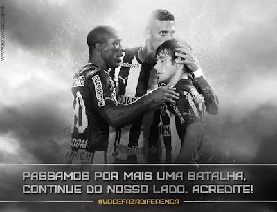 Hoje é dia de apoiar o Botafogo, o time que se recusa a entrar em crise