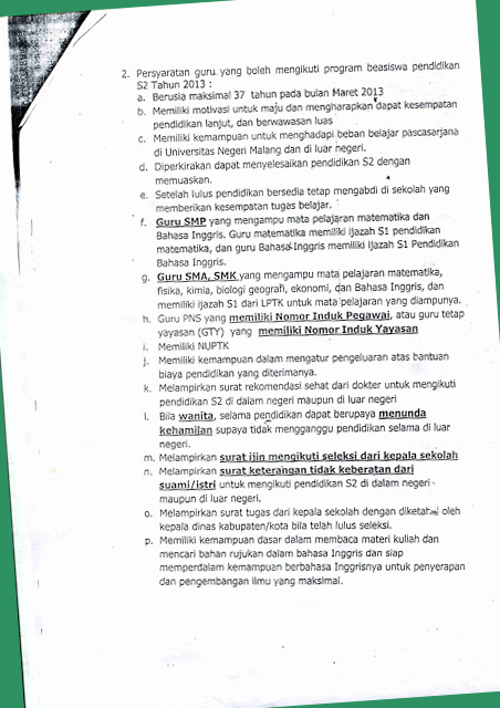 Info beasiswa Jatim 2013