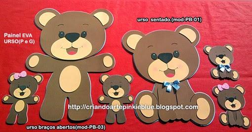 Pinkie Blue Artigos Para Festa Painel Ursos Marrom E Azul E Marrom