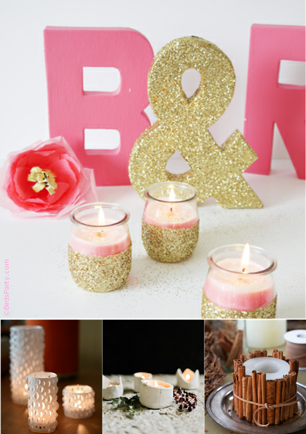 diy candle crafts with party ideas