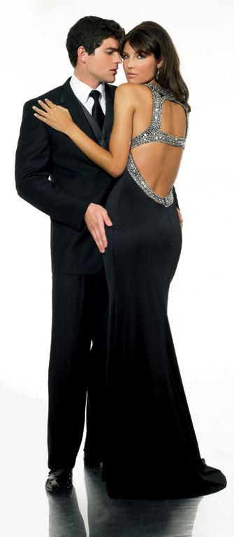 black prom dress on Evening Dress  Black Prom Dress