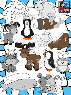 http://www.teacherspayteachers.com/Product/Arctic-Animal-Friends-Clipart-Bundle-1012141