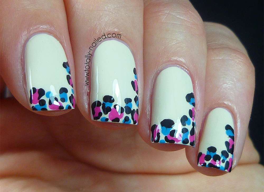 Fun French Tips - Animal Print | Totally Nailed