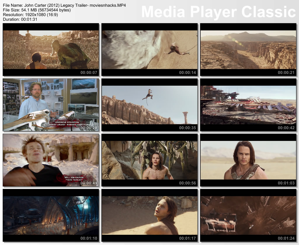 John Carter Trailer Hd