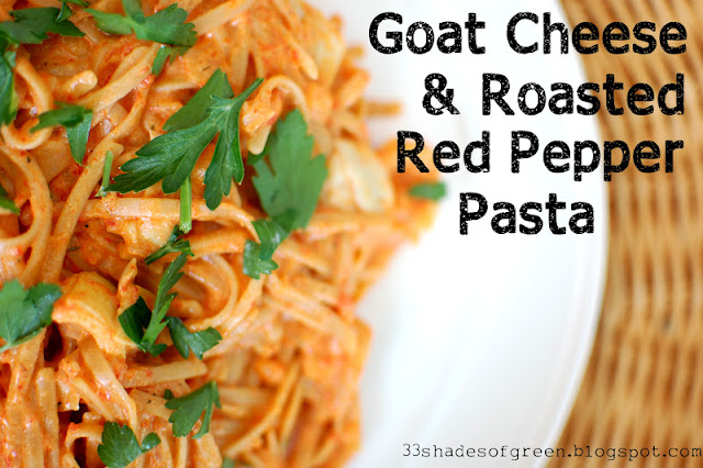 ... of Green: Tasty Tuesdays: Goat Cheese & Roasted Red Pepper Pasta