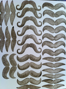 Stampin' Up! Many Mustaches