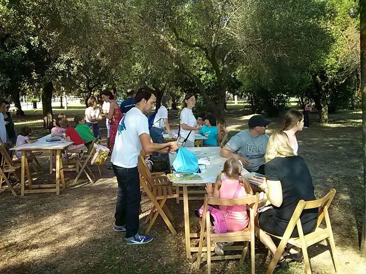 Celebración del Día de las Aves 2014 en el Parque del Alamillo SEO-Sevilla.